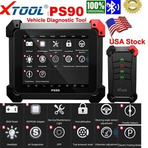 Usa Xtool Ps90 Tablet Auto Diagnostic Tool Programmer Odometer Obdii Immobilizer