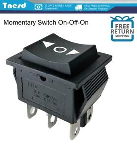 Dpdt on off on 20 Amp 125vac Momentary 6 pin Rocker Switch Kcd4