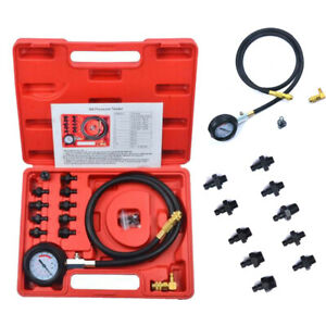 Engine Oil Pressure Test Kit Tester Car Garage Tool Low Oil Prompt Quality Tool
