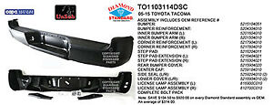 Cpp To1103114dsc Rear Bumper For 2005 2013 Toyota Tacoma