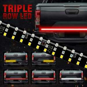 60 Triple Row Led Light Tailgate Brake Signal Bar Strip For Ford F150 250 350
