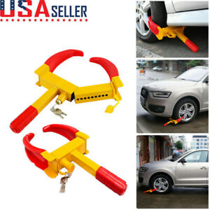 Anti Theft Wheel Lock Clamp Boot Tire Claw Trailer Auto Car Truck Towing Us 2020