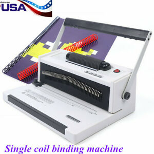 S20a 46holes Manual Spiral Coil Binding Machine With Electrical Inserter 110v Us