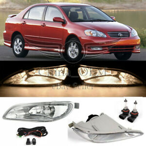 Clear Fog Light Lamp For 2002 2003 2004 Toyota Camry 2005 2006 2007 2008 Corolla