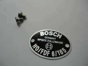 Vw Porsche Split Oval Bus 356 Show Quality 6v Bosch Horn Id Plate Badge Last