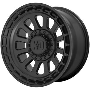 4 xd856 Omega 17x9 6x4 5 6x5 5 18mm Satin Black Wheels Rims 17 Inch