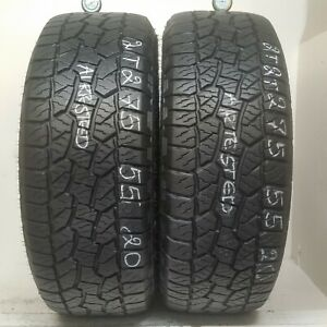 2 Tires 275 55 20 Hankook Dynapro Atm 9 50 10 50 32 Tread 113t