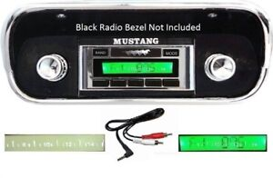 1967 1968 Ford Mustang Radio W Free Aux Cable Custom Fit Am Fm 230 Stereo