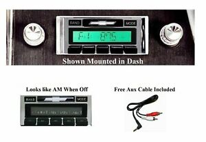 1966 Chevy Radio Impala Caprice Free Aux Cable Stereo 230