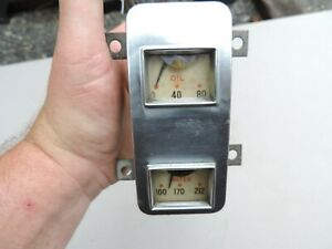 Vintage 1939 1940 Studebaker Champion Oil Temperature Gauge Working Original