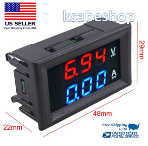 Mini Digital Voltmeter Ammeter Dc 100v 10a Car Led Display Panel Amp Volt Tester