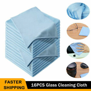 16pcs Microfiber Glass Cleaning Cloth Car Windshield Washing Dish Drying Towel