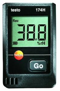 Testo 174h 2 channel Temperature humidity Data Logger With Wall Holder
