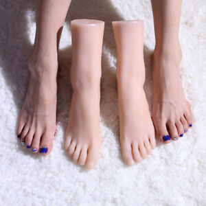 Top Quality Silicone Female Foot Display Model Real Pretty Greek Feet Us Seller