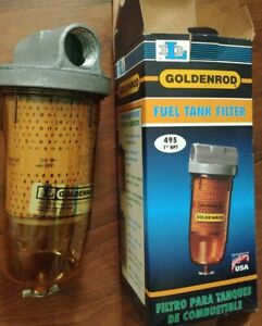 Goldenrod 495 10 Micron Fuel Tank Filter New