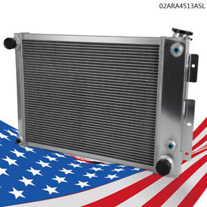 Fit For 67 69 Chevy Camaro Chevrolet Pontiac Full Aluminum Performance Radiator