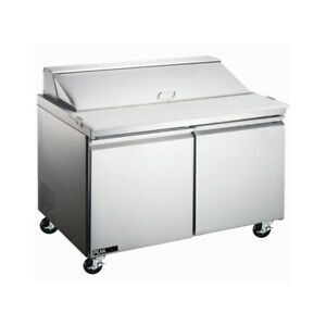 Peakcold 60 Stainless Steel Restaurant Refrigerated Sandwich Prep Table
