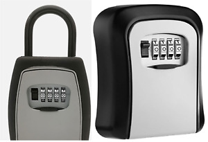 Keys Storage Safe 4 Digit Combination Secure Lock Box For Padlock wall mount Use