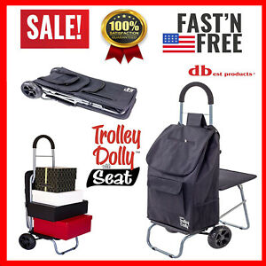 Shopping Trolley Bag Cart Dolly Grocery With Wheels Foldable Portable Heavy Duty