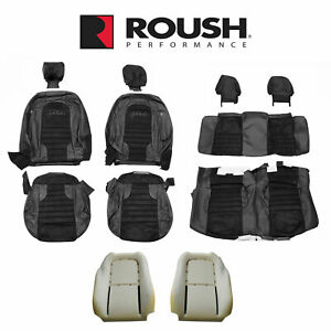 2012 2014 Mustang Convertible Jack Roush Front Rear Seat Upholstery Black