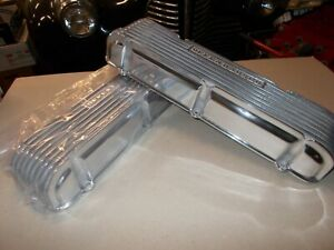 Offenhauser Valve Covers 394 Oldsmobile 1959 64 Polished Finned Aluminum