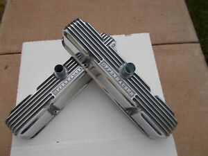 Offenhauser Valve Covers Mopar Early B Block 383 413 Polished Finned Aluminum