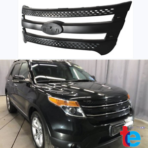 Fit For Ford Explorer 2011 2015 Snap On Grille Overlay Front Grill Cover Black