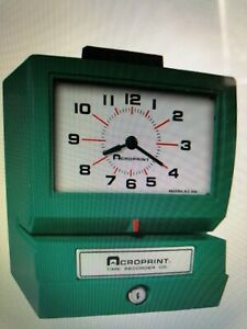 Acroprint Time Recorder Co Model 125nr4 Time Clock brand New In Box