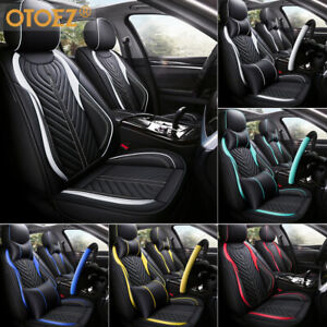 3d Breathable Leather Car Seat Covers 5 Seats Full Set Protector Universal Fit