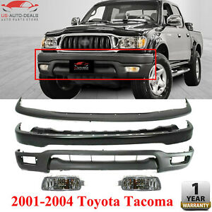 Front Bumper Filler Valance Fog Light Kit For 2001 2004 Toyota Tacoma
