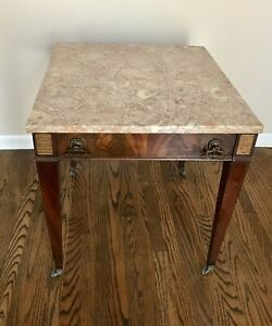 Weiman Heirloom Quality Furniture Rose Marble Top Table