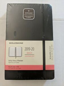 Moleskine 2019 20 Daily Planner Large Black Soft Cover 5 X 8 1 2