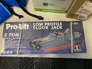 Pro Lift F 767 Grey Low Profile Floor Jack 2 Ton Capacity Brand New