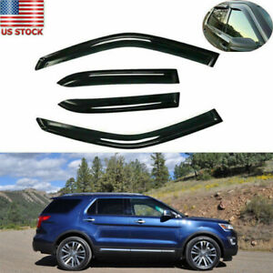 Fit For Ford Explorer 2011 2019 Window Weather Shade Visor Sun Wind Shade