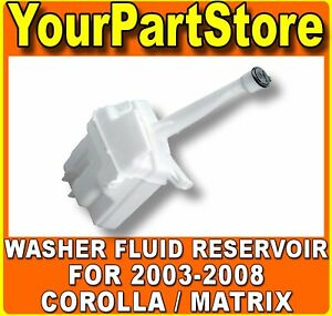 Windshield Washer Tank Bottle Container Fluid Reservoir New For Corolla Matrix