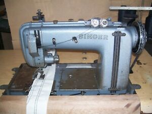 Singer 300w Triple Needle Chainstitch Industrial Sewing Machine With Puller