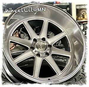 22 X12 Titanium Brushed Xd 844 Pike Wheels Fits Lifted Jeep Wrangler 5x127 44