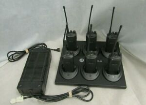 Lot Of 6 Motorola Radius Cp150 4 Channel Two Way Radio s Vhf Aah50rcc9aa1an