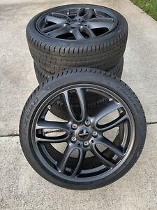 New Mini Cooper Oem 19 Jcw Wheels And Pirelli Tires Black Double Spoke