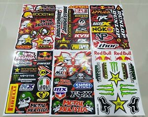 6x Rockstar Energy Yoshimura Metal Mulisha Racing Stickers Ktm Motorrcross Fox