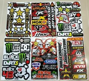 6 Rockstar Energy Aufkleber Metal Mulisha Racing Stickers Motorrcross Racing
