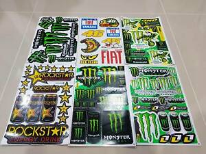 6 Rockstar Energy Aufkleber Metal Mulisha Racing Stickers Ktm Motorrcross Fiat