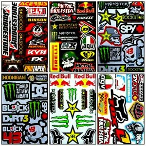 6 Rockstar Energy Aufkleber Metal Mulisha Stickers Ktm Motorrcross Racing Hinson