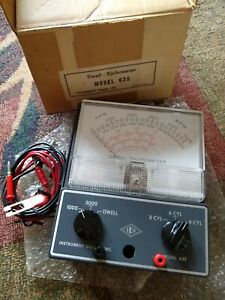 Vintage Dwell Tachometer Model 635 In Hardly Used Condition In Original Box