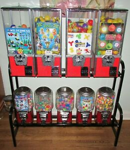 9 Toy Capsule Bulk Vending Machine With Rack Keys Inventory