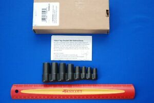 New Blue point Tools 8 Piece 1 4 And 3 8 Drive Tap Socket Set Tdl8