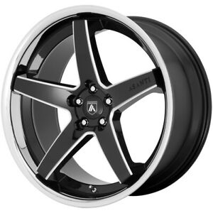 4 asanti Abl31 Regal 22x9 5x120 32mm Black milled Ssl Wheels Rims 22 Inch