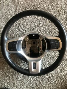 Mitsubishi Lancer Evo X Gsr Black Leather Steering Wheel Evo 10 Oem 08 2015