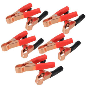 5 Pairs Red Black Car Battery Clip Cables Alligator Clips Charger Clamp Tool Us