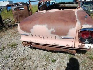 1958 Pontiac Chieftain Trunk Lid Deck 250 Can Ship By Bus